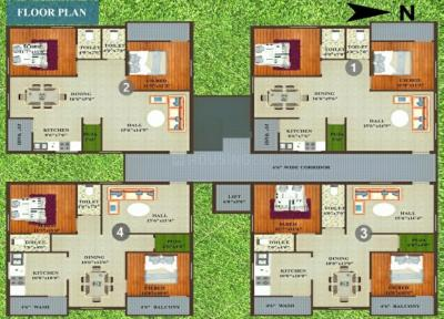 Project Image of 0 - 1285 Sq.ft 2 BHK Apartment for buy in D N R Woodland Residency