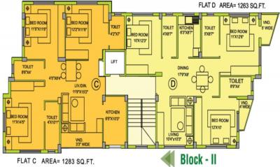 Project Image of 1263.0 - 1498.0 Sq.ft 3 BHK Apartment for buy in Eden Moore