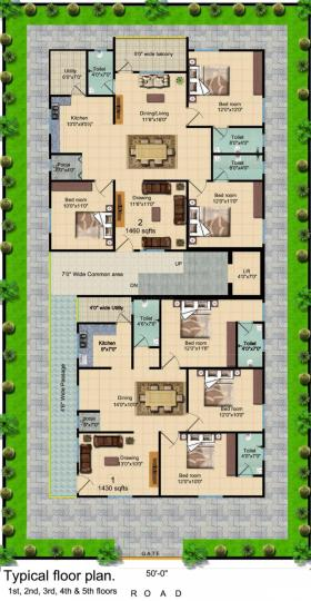 Project Image of 1430.0 - 1460.0 Sq.ft 3 BHK Apartment for buy in GSV Residential Apartment At Nagole