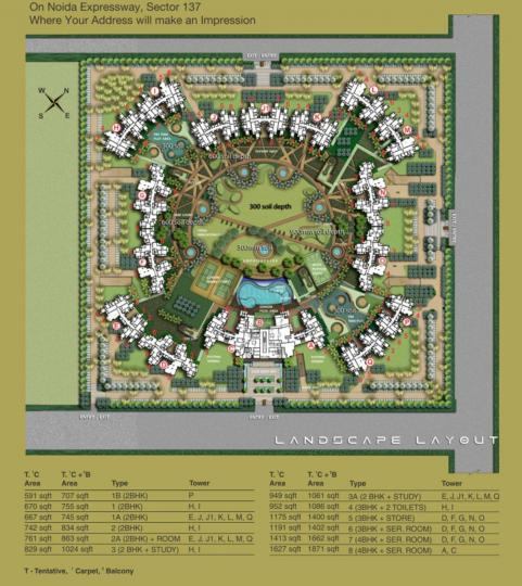Project Image of 900 - 2375 Sq.ft 2 BHK Apartment for buy in Logix Blossom County
