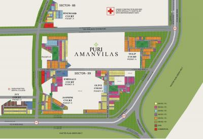 Gallery Cover Image of 1440 Sq.ft 3 BHK Independent Floor for buy in Puri Amanvilas Plots, Sector 89 for 8200000