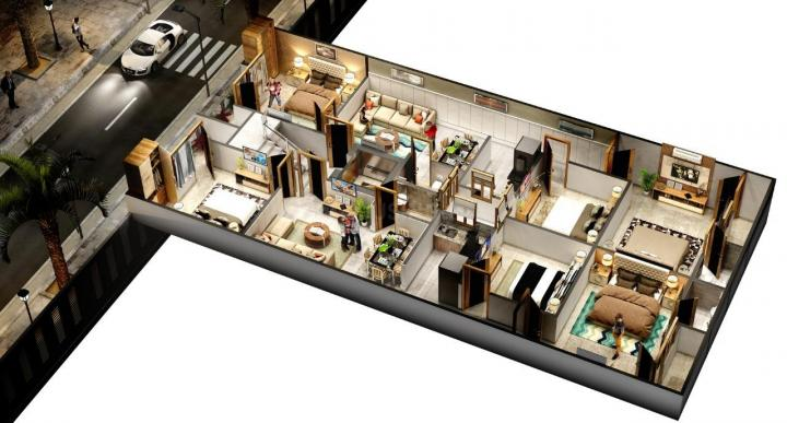 Project Image of 400 - 900 Sq.ft 1 BHK Apartment for buy in Guru Ji Homes Part 1