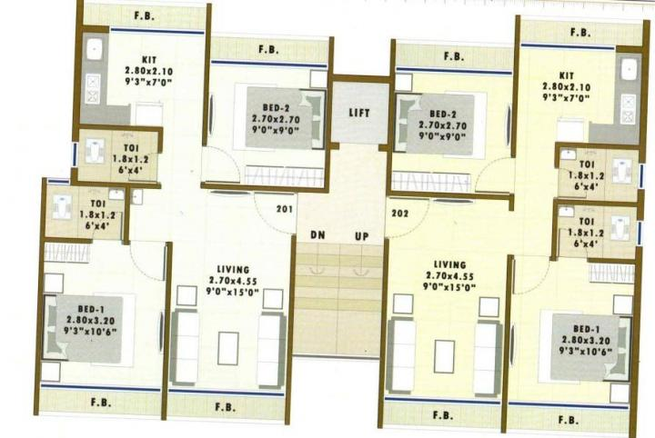 Project Image of 560 - 860 Sq.ft 1 RK Apartment for buy in Sai Prabhu Aura