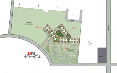 Gallery Cover Image of 866 Sq.ft 2 BHK Apartment for rent in Unitech Unihomes, Sector 117 for 8500