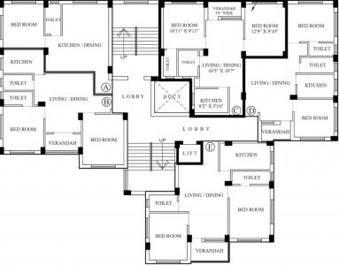 Project Image of 0 - 928.0 Sq.ft 2 BHK Apartment for buy in Mitra 274 D H Road