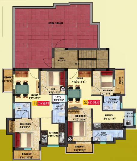 Project Image of 655.0 - 920.0 Sq.ft 2 BHK Apartment for buy in Ranga Andal