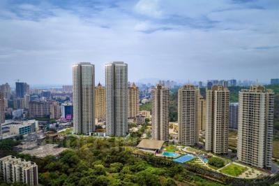 Gallery Cover Image of 1000 Sq.ft 2 BHK Apartment for rent in Dynamix Parkwoods, Thane West for 23000