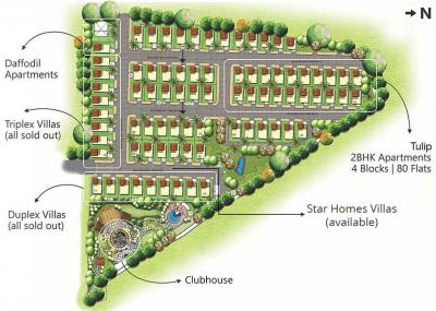 Project Image of 0 - 704 Sq.ft 2 BHK Apartment for buy in Star Homes Tulip Apartments Block B