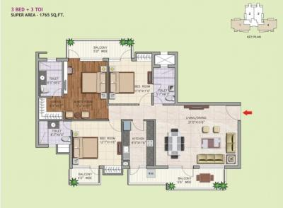 Gallery Cover Image of 1550 Sq.ft 2 BHK Apartment for rent in Corona Gracieux, Sector 76 for 15000