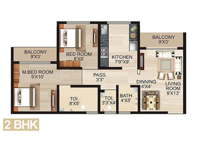 Project Image of 247.0 - 520.0 Sq.ft 1 RK Apartment for buy in Enrich Eva