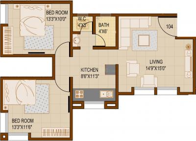 Project Image of 270.0 - 814.0 Sq.ft 1 BHK Apartment for buy in SG Rainbow