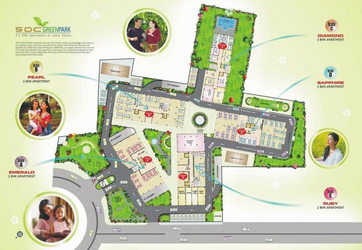 Project Image of 1165 - 1780 Sq.ft 2 BHK Apartment for buy in SDC Green Park
