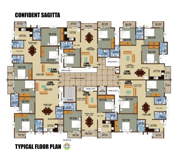 Project Image of 1404.0 - 1531.0 Sq.ft 3 BHK Apartment for buy in Confident Sagitta