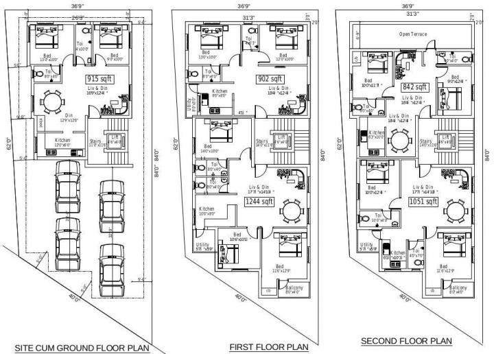 Project Image of 842 - 1244 Sq.ft 2 BHK Apartment for buy in Suprabhatham Thillai Ganga Nagar