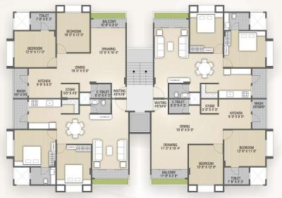 Project Image of 1296.0 - 1692.0 Sq.ft 2 BHK Apartment for buy in Shaligram Garden Residency III