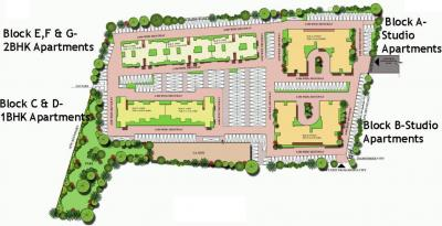 Project Image of 370.0 - 1281.0 Sq.ft 1 BHK Apartment for buy in Excel Codename Five Rings Apartment