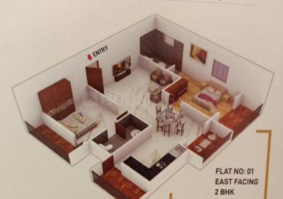Gallery Cover Image of 1191 Sq.ft 2 BHK Apartment for buy in Hennur for 5400000