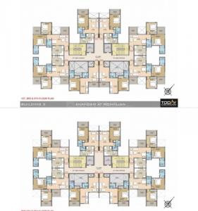 Floor Plan Image of 595 Sq.ft 1 BHK Apartment for buy in Today Anandam Phase II, Rohinjan for 4900000