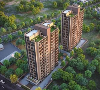 Gallery Cover Image of 1019 Sq.ft 2 BHK Apartment for buy in S Cube Aadhvan Rise, Bopal for 4100000