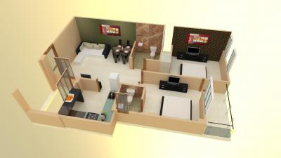 Gallery Cover Image of 1008 Sq.ft 2 BHK Apartment for buy in Bhankrota for 2800000