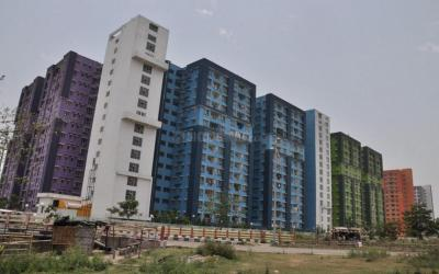 Gallery Cover Image of 1319 Sq.ft 3 BHK Apartment for rent in NBCC Vibgyor Towers, New Town for 23000