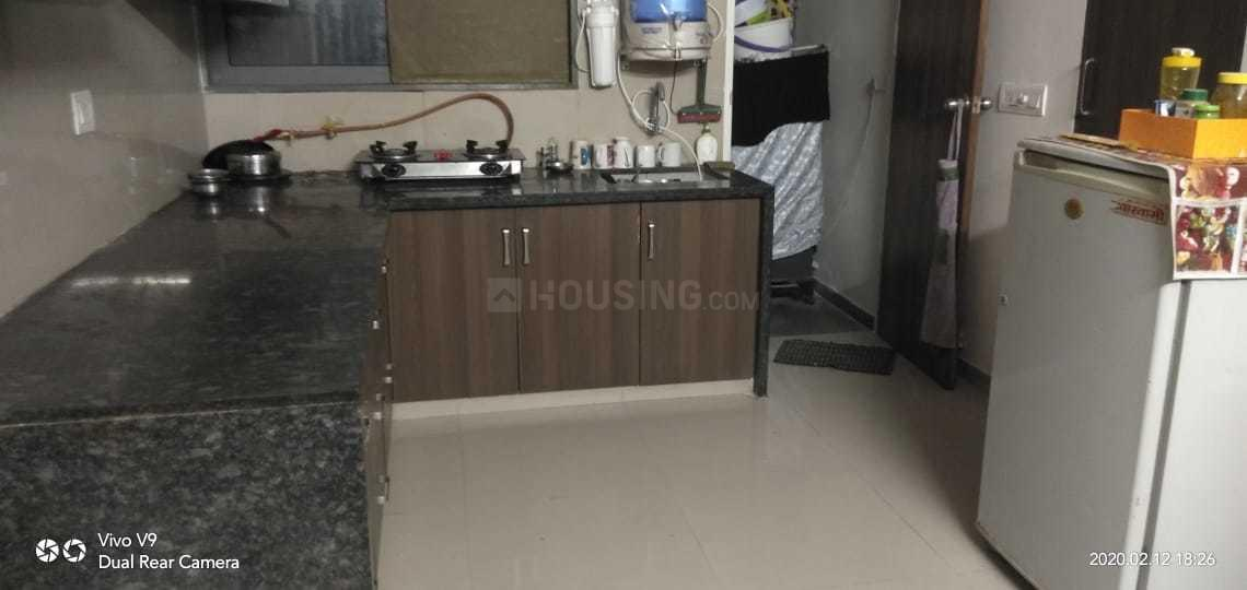 Kitchen Image of 1125 Sq.ft 2 BHK Apartment for rent in Bopal for 25000