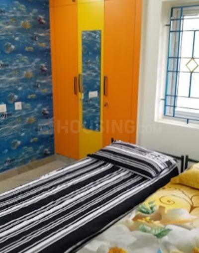 वसुंधरा एनक्लेव में आरएस लेडिज होस्टल में बेडरूम की तस्वीर