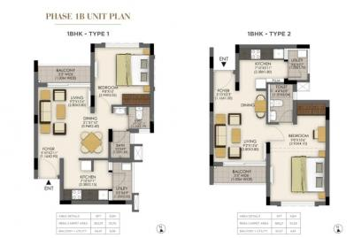 Gallery Cover Image of 576 Sq.ft 1 BHK Apartment for buy in Tata Santorini Phase IB, Poonamallee for 2160000