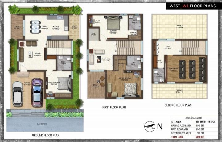Floor Plan Image of 2890 Sq.ft 4 BHK Villa for buy in Pati for 11000000