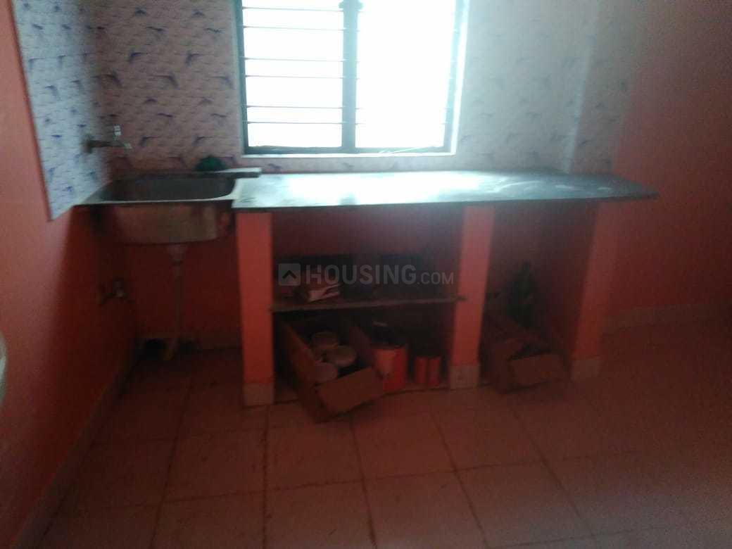 Kitchen Image of 638 Sq.ft 1 BHK Independent Floor for rent in Baghajatin for 7000