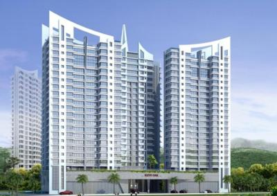 Gallery Cover Image of 1240 Sq.ft 2 BHK Apartment for rent in Rizvi Oak, Malad East for 40000