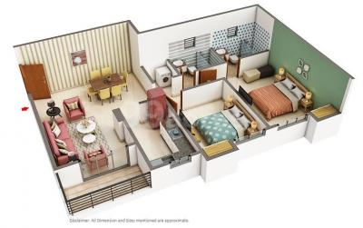 Gallery Cover Image of 1275 Sq.ft 3 BHK Apartment for buy in Ashiana Anmol, Dhunela for 7500000