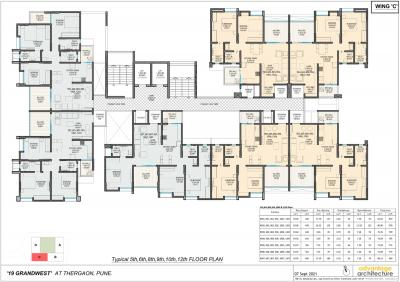 Gallery Cover Image of 1187 Sq.ft 3 BHK Apartment for buy in Shivam 19 Grand West Wing B, Thergaon for 8382754
