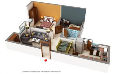 Gallery Cover Image of 1535 Sq.ft 3 BHK Apartment for buy in Unitech The Residences, Sector 33 for 11800000