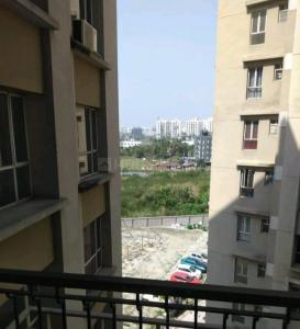 Balcony Image of 1121 Sq.ft 2 BHK Apartment for rent in Siddha Galaxia, New Town for 15000