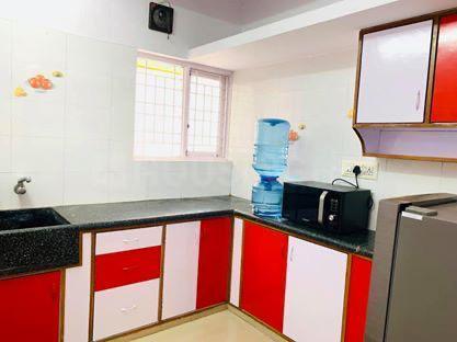 इंदिरा नगर में हसीन मंज़िल पीजी में किचन की तस्वीर