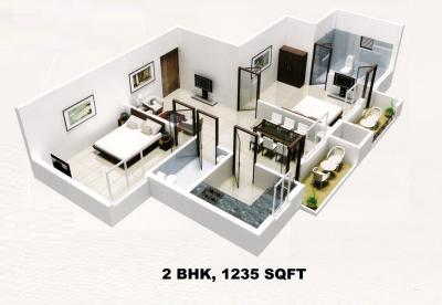 Gallery Cover Image of 930 Sq.ft 2 BHK Apartment for rent in Sai Park, Ambegaon Pathar for 13000