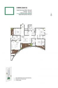 Gallery Cover Image of 2742 Sq.ft 3 BHK Apartment for buy in 38 & BANYAN, C V Raman Nagar for 37900000