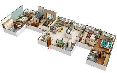 Gallery Cover Image of 1500 Sq.ft 1 BHK Apartment for buy in Paradise Sai World Empire, Kharghar for 11500000