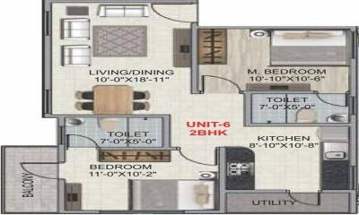 Gallery Cover Image of 1313 Sq.ft 3 BHK Apartment for buy in Amigo Regency, Horamavu for 6500000