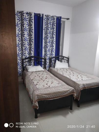 खारघर में दीपक पीजी के बेडरूम की तस्वीर