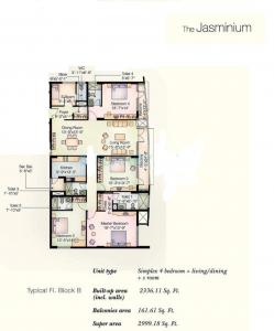 Gallery Cover Image of 3000 Sq.ft 4 BHK Apartment for buy in Jasminium Apartment, Sector 45 for 21000000
