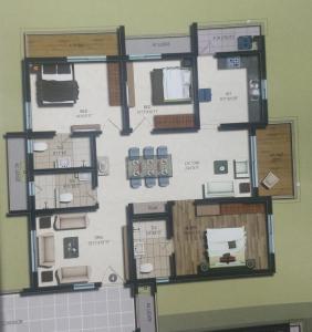 Gallery Cover Image of 1870 Sq.ft 3 BHK Apartment for buy in Vajra Jasmine County, Nanakram Guda for 16600000