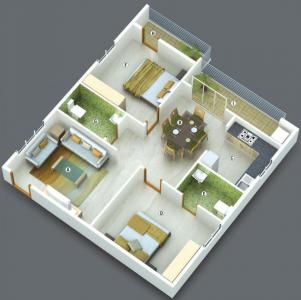 Gallery Cover Image of 1160 Sq.ft 2 BHK Apartment for buy in Jayani Paradise, Mahadevapura for 8410000