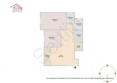 Gallery Cover Image of 1179 Sq.ft 2 BHK Apartment for buy in SJR Parkway Homes, Rayasandra for 6000000