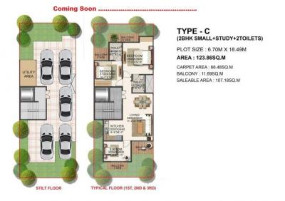 Gallery Cover Image of 1210 Sq.ft 3 BHK Independent Floor for buy in Sector 37D for 6000000