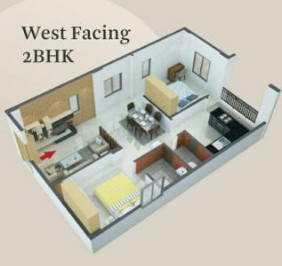 Gallery Cover Image of 1000 Sq.ft 2 BHK Apartment for buy in Kushaiguda for 4725000