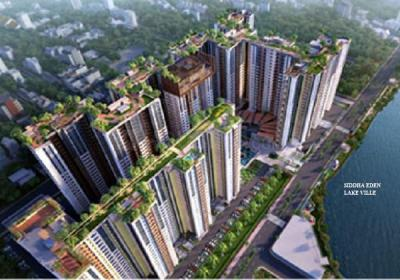 Gallery Cover Image of 840 Sq.ft 2 BHK Apartment for buy in Siddha Eden Lakeville, Dunlop for 4800000
