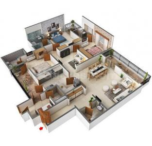 Gallery Cover Image of 2550 Sq.ft 3 BHK Apartment for buy in Central Park Bellevue, Sector 48 for 18000000
