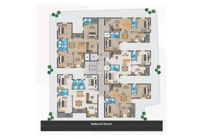 Gallery Cover Image of 1225 Sq.ft 2 BHK Apartment for buy in Padi for 9186000